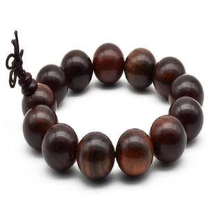 18 mm Zen Dear Unisex Natural Rosewood Prayer Beads Buddha Buddhist Prayer Meditation Mala Necklace Bracelet