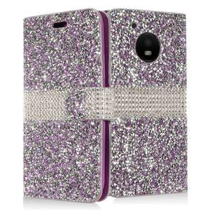 Per Coolpad Defiant REVVL Plus illumina 3310 Produttore Luxury Flip Card Diario Bling Crystal Diamond Strass Portafoglio Custodia in pelle