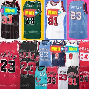 NCAA 23 Michael MJ Chicago 91 Dennis Rodman Bulls Jersey 33 Heels Scottie Pippen Carolina do Norte Tar Lauri Throwback Markkanen Zach 8 Lavine