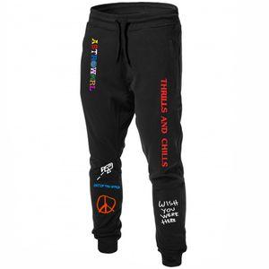 Scott AstroWorld pantalones deportivos pantalones deportivos impresión de la letra la camiseta Joggers Pantalones ocasionales de los pantalones de los hombres de