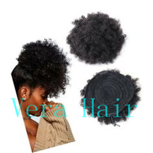 Afly Kinky Curly Ponytails Clip en extensiones de cabello para los afroamericanos Kinky Coily Natural Clipin Ponytail Hair Pieces Curly Drawstring