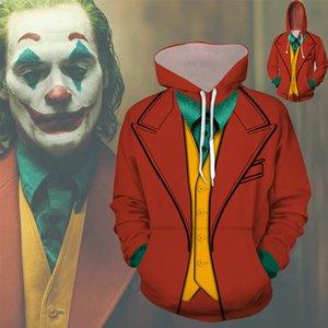 남성의 3D 광대 스티븐 킹의 까마귀 운동복 지퍼 자켓 할로윈 코스프레 Customes