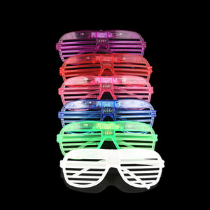 Hot new Shutters LED Glow glasses concert cheer Halloween props dance Fluorescence luminous glasses Led Toy Christmas gifts WCW269
