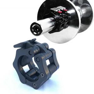 1 Pieza de 50mm con barra de bloqueo Spinlock collares con mancuernas con barra clips collar de sujeción Gimnasio del levantamiento de pesas entrenamiento de la aptitud