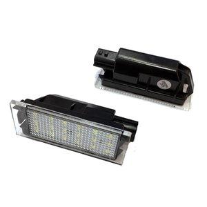 2pcs LED voiture Numéro de plaque d'immatriculation Lumière SMD3528 Pour Renault Clio 2 Laguna Megane 3 Twingo Vel Satis Maître