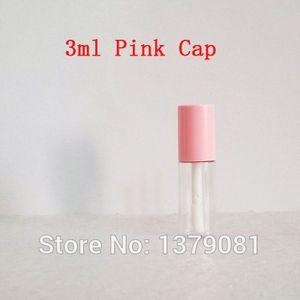 100pcs Empty 3ml Clear Lip Gloss Tube Lips Balm Bottle Brush Container Beauty Tool Mini Refillable Bottles Lipstick Bottle