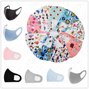 3D Three-dimensional Unisex Cotton Adult Mask Kids Printed Cartoon Ice Silk Sunscreen Spring Summer Dustproof Breathable Face Masks D4710