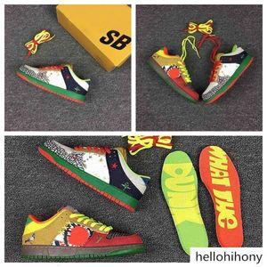 SB Dunk Low What The Dunk Skateboard Shoes Mandarin Duck SB Designer Shoes Leisure Man Womans Sports Shoe Fashion Run Sneakers With Box