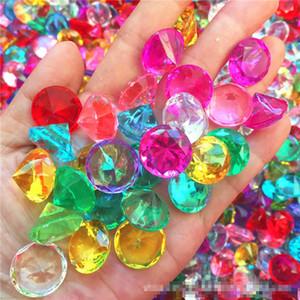 20MM 가짜 다이아몬드 보석 보물 상자 해적 아크릴 크리스탈 보석 필러 장난감 소품 파티 호의 색종이 웨딩 장식