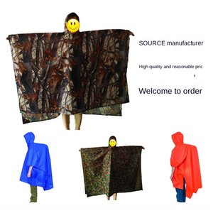 3-in -1 multi-function backpack raincoat poncho hiking backpack thick outdoor camouflage to do moisture proof pad