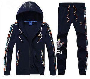Tasarımcı Eşofman 2018 En Iyi Sürüm İlkbahar Sonbahar Erkek Eşofman Moda Fermuar Elbise Üstleri + Pantolon Erkek Casual Kazak Spor Suits