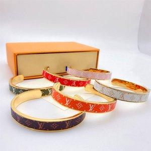New Classic V письмо моды уникальный дизайн эмаль браслет цвета простые открытия мужчин и женщин браслет подарок ювелирные изделия позолоченный