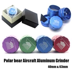 Верхнего уровня мясорубки Cali дробилка Херб Grinder 40 / 53мм Aircraft алюминиевый Grinder 4 слоя обеспечивают лучший сенсорный Texture Бесплатная доставка