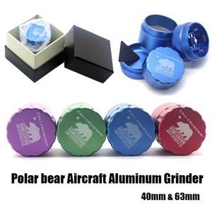 Top-Level-Schleifmaschinen Cali Crusher Grinder 40 / 53mm Aircraft Alugrinder 4 Schichten bieten Best-Noten-Texture-freies Verschiffen