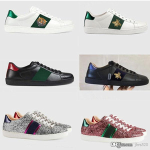 Eğlence Ayakkabı moda Deri lüks Tasarımcı Beyaz Ayakkabı Otantik inek derisi Strapped erkek Spor ayakkabı antrenör dans sürüş düz kadın ayakkabı
