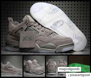 Новый Kaws X 4 Мужчины Баскетбол Прохладный серый человек 4s Jumpman Кроссовки Кроссовки Легкая атлетика Баскетбол Спортивная обувь 41-47