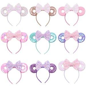 5 inç 15 Stiller Bebek Saç Kızlar Saç Aksesuarları M502 İçin Fare Ears Sevimli Glitter Payetler Yaylar Donut Saç bandı Sticks