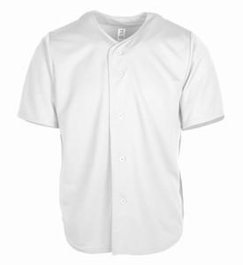 533 545 449 000 54 Blank personalizzato Baseball Jersey Uomo Donne Dimensioni S-3XL Bianco Bottone Down Pullover