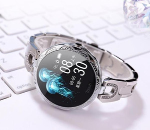 2020 New Fashionable AK15 Female Colorful Screen Smart Bracelet Heart Rate Blood Pressure Health Monitoring Physiological Cycle Smart Watch