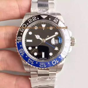 En İyi Kalite 904 Çelik Su Geçirmez 40mm GMT Batman 116710 116710LN 116710blnr Ceramic Swiss Cal.3186 Hareketi Otomatik Erkek İzle Saatler