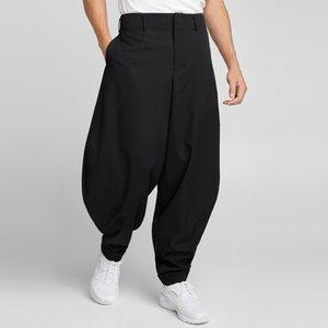 27-46 2019 New men clothing GD Hair Stylist Street loose Wool Profile Lantern Pants harem pants plus size costumes