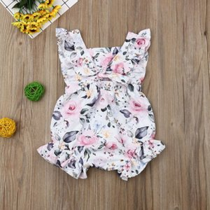 Newborn Infant Baby Girls Romper Clothes Outfit Summer Jumpsuit Floral Sleeveless Baby Girl Clothing Rompers