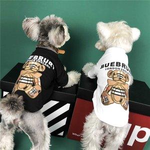 INS Stil Baskılı Evcil tişört Yaz Son Güzel Charm Pet Gömlek 2 Renkler Yumuşak Dokunuş Teddy Schnauzer Giyim