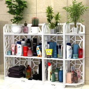 Todos los tamaños de almacenamiento de baño Estantes Artículos de tocador Plantas Zapatos de las misceláneas de almacenamiento en rack resistente al agua de baño cabina de ducha de esquina del estante