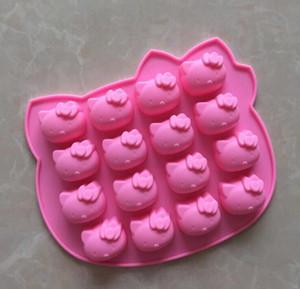 Olá forno gatinho de molde de silicone chocolate microondas bolo pan Moldes geleia molde doces 10pcs sabão de silicone 3D sorvete assadeiras prato / lote