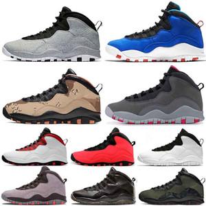 Nike Air Jordan retro 10 Tinker 10 Çöl Camo Woodland Duman Gri Westbrook 2006 SINIFI 10 s JUMPMAN Erkek Basketbol Ayakkabı VO Siyah Çimento Im Geri ABD 7-13