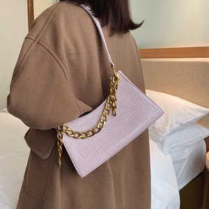Stone Pattern PU Leather Crossbody Bags For Women 2020 Chain Shoulder Messenger Bag Lady Solid Color Handbags and Purses