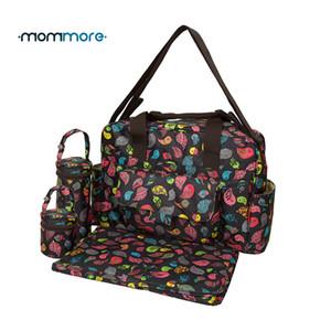 mommore 5 pc / insieme Bolsa Maternidade pannolino del bambino Borse pannolini per neonati Borse Mummy Maternity sacchetto della signora Handbag Messenger Bag Y200107