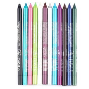 12pcs / Bag водонепроницаемый длительный карандаш для глаз пигмент белый цвет подводка для глаз перо косметика для глаз Макияж инструменты горячие