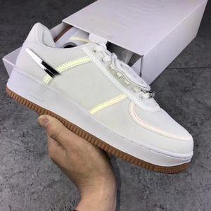 New Travis Scott 1s Sail 3 Air One 3M sapatos masculinos Forças Branco Sneakers Trainers 1 Dunk Canvas Sports Skate sapatos tamanho 36-45