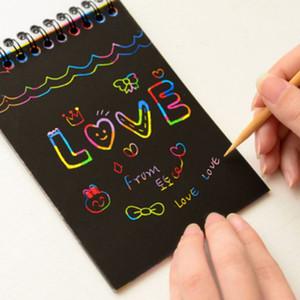 İnanılmaz Çizim Tahtasında Kağıt Kazıma Boyama Çocuk Çocuk öğrenme Çizim Eğitim Oyuncaklar Scratch Karikatür Sihirli Renkli Oyuncaklar