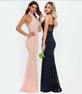 İki Renkler Boncuklu Uzun Akşam Balık Kesim Yuvarlak Yaka Kolsuz Pamuk 1356 Elbise Kadınlar