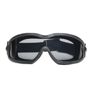 Tactical military air gun anti-fog glasses single   double outdoor lens wind and dust glasses free shipping