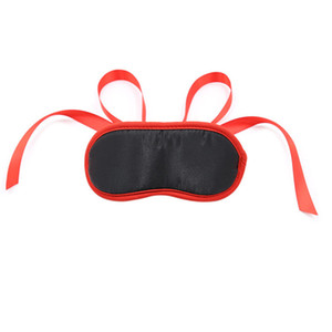 Adult Eye Masks New Black Red Sponge Eye Mask Long Strap Eye Masks Couples Passionate Flirting Love Tools