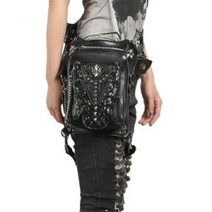 Steampunk Gothic Waist Bag for Women Men Vintage Leather Leg Bag Hip Holster Bolsas de cintura