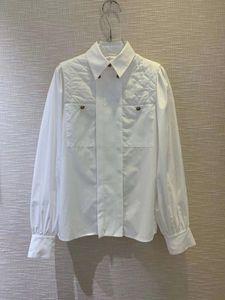 2020 xiaoxiangfeng principios de la primavera de nuevo botón personalizado de gama alta camisa romboide comprobó la camisa importada tienda de la fábrica de algodón de las mujeres
