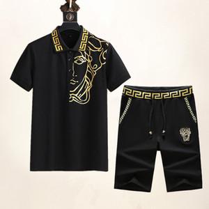 2020 hombres para hombre del chándal diseñador de moda de la camiseta + pantalones Conjunto 2 piezas color de la marca de alta calidad de la medusa s chándales diseñador