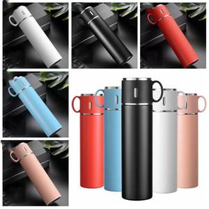 Портативные Чашки из нержавеющей стали Waters Бутылки вакуумных для женщин с двумя ручками большой емкостью бутылки водой Коммерческих подарков LXL1184-1