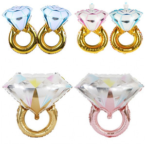 Романтическая свадьба Обручальное Воздушные шары Предложение бриллиантовое кольцо образный алюминиевый фильм Большая партия воздушных шаров для украшения подарка дня рождения 1 4hg E19