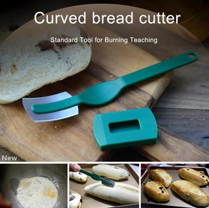 Изогнутый нож Хлеб западный стиль Baguette Режущий Французский ТОА Cutter Бублик Выпечка Инструменты Bakers Makers Приготовление кухонный нож GGA3389-2