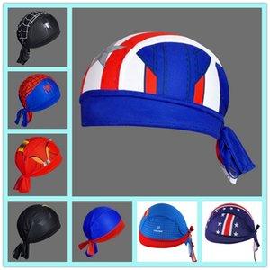 Marvel Superhero Spider-Man Batman Superman Bike Scarf Cycling Caps Headscarf Headband Men Racing Bicycle Hat 8 models