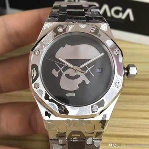 Designer relógios Royal Oak, Movimento relógios de pulso mecânico para homens, três agulha da máquina automática, caso 42 milímetros, fivela dobrável.