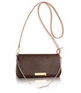 totes luxury desinger Real leather 40718 favorite luxury handbag fashion crossbody women bag favorite design chain clutch leather strap