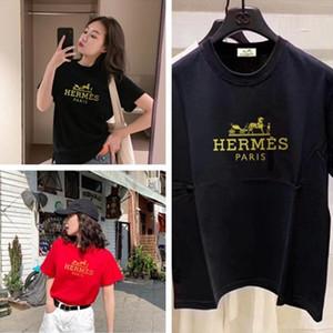 19SS Marke Frauen-Designer-T-Shirts Schwarz Weiß Rot Männer Luxus Designer-T-Shirts Top Short Sleeve ST13