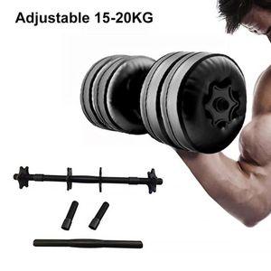 Rempli d'eau réglable Haltères Poids 20kg Bras de formation en environnement musculaire Musculation Fitness Haltère