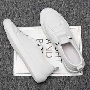 Chaussures en cuir véritable homme Sneakers Casual Male Chaussures Mode Marque Blanc Hommes Chaussures en cuir de vache Blanc Sneakers KA1697